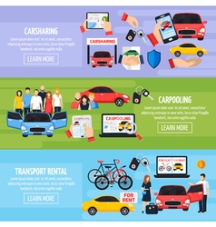 Carsharing Banners Set vector image vector image