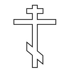 cross eight-pointed of greek-catholic orthodox vector image