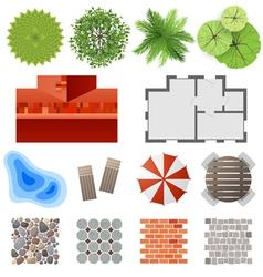 Landscape design set vector