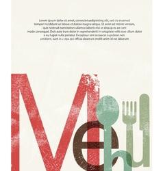 Menu Design print background vector image