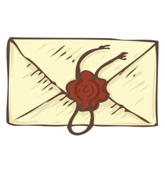 Vintage Envelope with Wax Stamp vector image