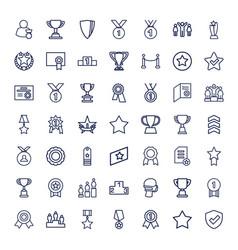 49 award icons vector