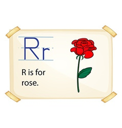 A letter r for rose vector