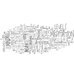 A simple way to meditate text word cloud concept vector