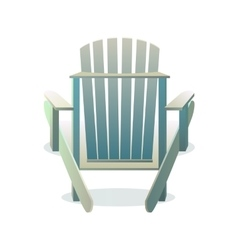 Adirondack wooden chair from the back vector