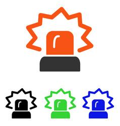 Alarm flat icon vector