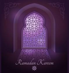 Arabic frames on traditional islamic door vector