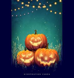 autumn halloween party vector image
