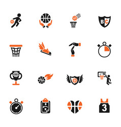 Basketball icon set vector