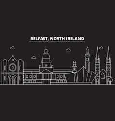 Belfast silhouette skyline great britain vector