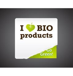 Bio sticker vector image