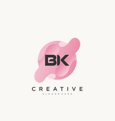 Bk initial letter logo icon design template vector