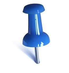 Blue thumbtack vector