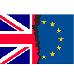 Brexit picture two parts of flags vector