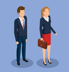business people isometric avatars vector image