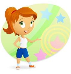 Cartoon sports girl vector
