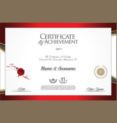 Certificate or diploma modern design template 4204 vector