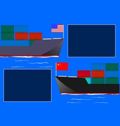 china unitedstates trade war vector image