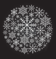 christmas ball made from snowflakes vector image