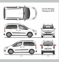 Citroen berlingo multispace 2016 combi van vector