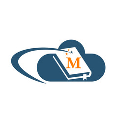 Cloud ebook solutions initial m vector