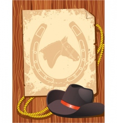 Cowboy elements hat vector