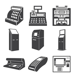 Devices for money vector image