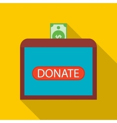 Donate money to sick children icon flat style vector