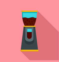 Electric coffee grinder icon flat style vector