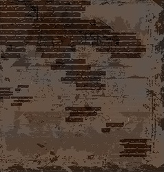 empty old shabby brick wall vector image