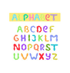 english balloon colorful alphabet holidays vector image