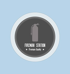 Fireman Label vector