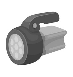 Flashlighttent single icon in monochrome style vector