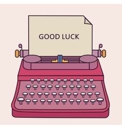 good luck type writer thin line style vector image