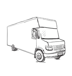 Hand drawn commercial transport vector image