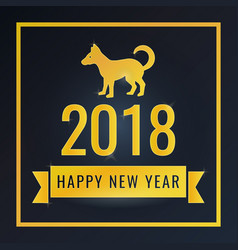 happy new year greeting card banner for design vector image
