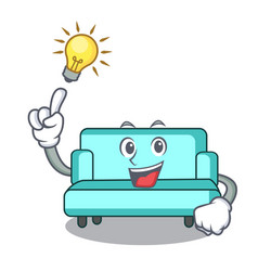 Have an idea sofa mascot cartoon style vector