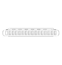 Isolated harmonica icon musical instrument vector