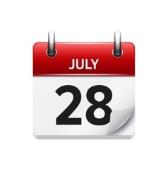 July 28 flat daily calendar icon Date vector