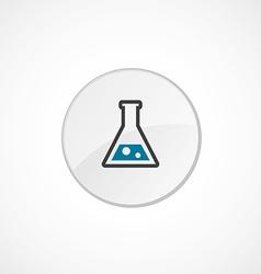 Laboratory icon 2 colored vector