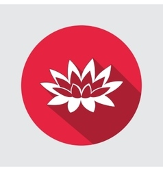 Lily lotus flower icon Water-lilies waterlily vector image