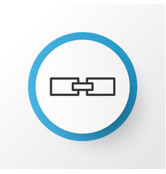 Linked data icon symbol premium quality isolated vector