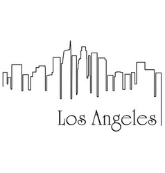 los angeles city one line drawing vector image