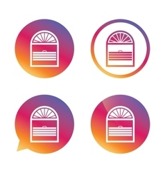 Louvers plisse sign icon Window blinds jalousie vector image