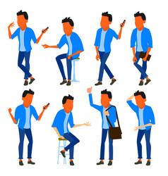 man set modern gradient colors people vector image