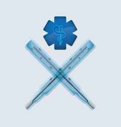 Medical care design health care icon isolated vector
