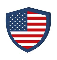 Memorial day shield flag american celebration flat vector