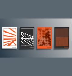 Minimal geometric design for flyer poster vector