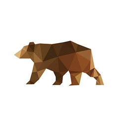 Modern flat design with origami bear vector
