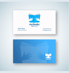 my books abstract sign or logo and business vector image